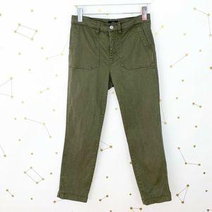 J Crew • Olive Green Vintage Straight Cargo Pants